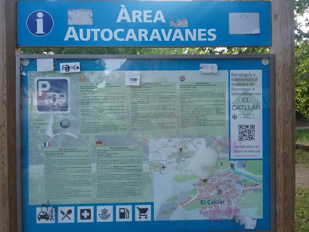 Campervan and motorhome parking and service facilities in Portual and Spain