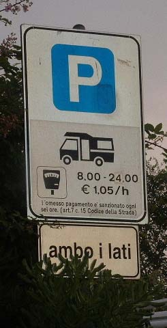 Aree di Sosta sign in Germany