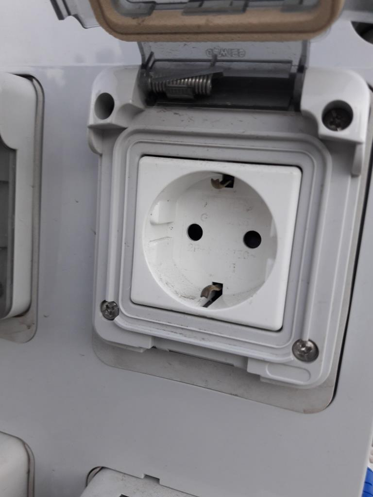 European two-pin socket for campervans and motor campers